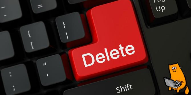 как удалить аккаунт на seosprint
